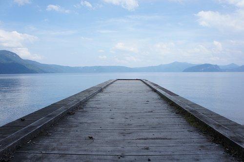lake  bridge  water