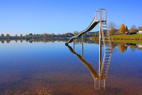 lake  slide  water slide