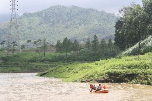 lake rowboat indonesian