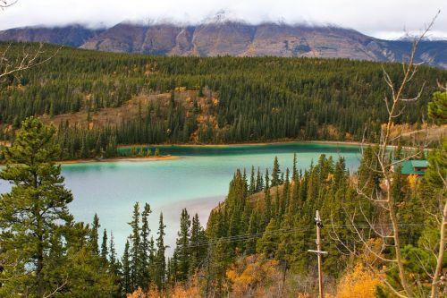lake nature serene