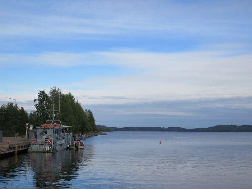 lake blue finland