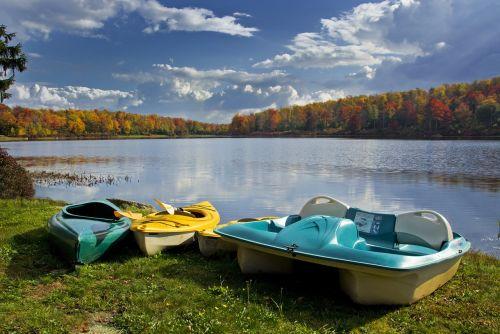 lake boat paddle boat