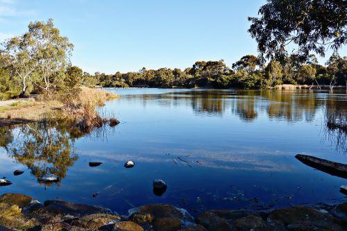 lake australia nature
