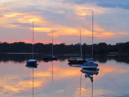 Lake At Twilight Time