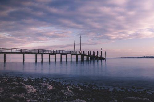 lake constance jetty sunset
