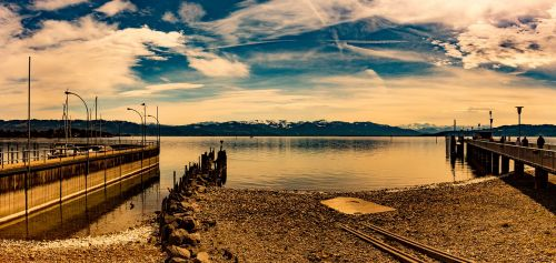 lake constance swiss mountains landscape