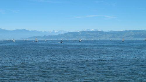 lake constance alpine panorama