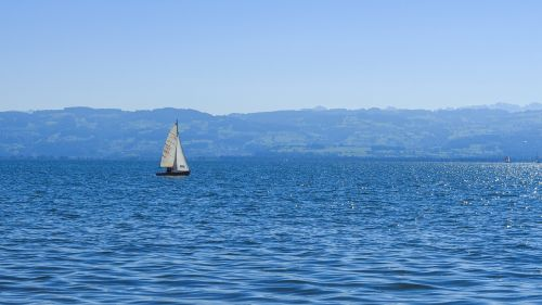 lake constance sail on the water