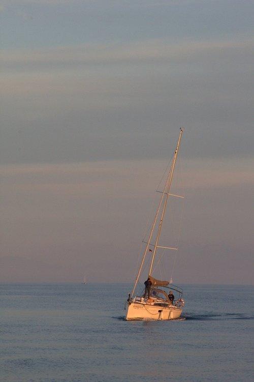 lake constance  sailor  abendstimmung