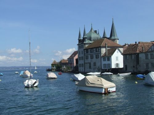 lake constance church boats