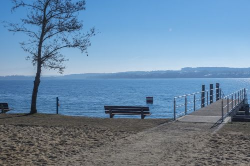 lake constance park bench bench
