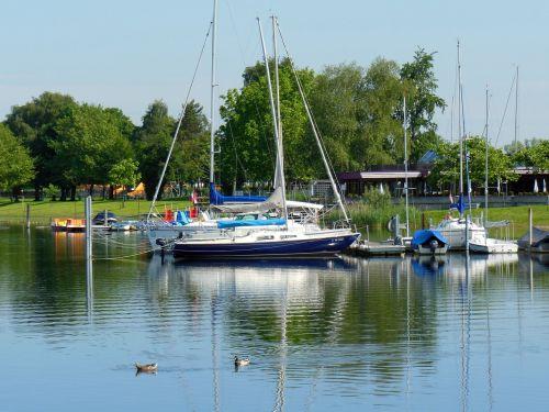 lake constance sailing boats mood
