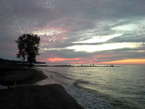 lake erie sunset beach