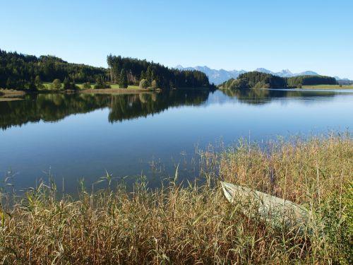lake forggensee water bank