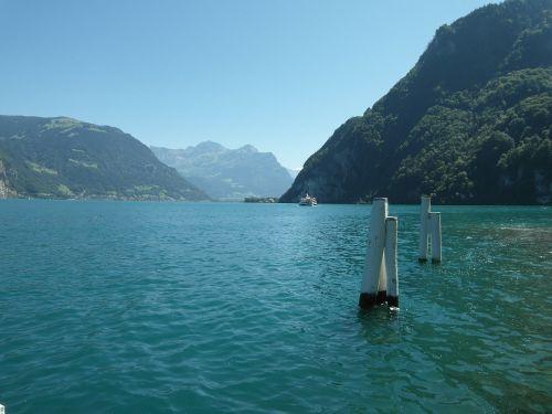 lake lucerne region ship steamboat