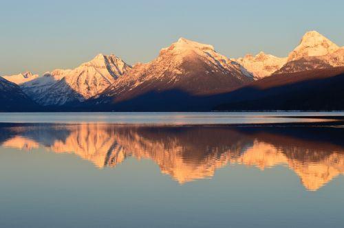 lake mcdonald landscape mountains