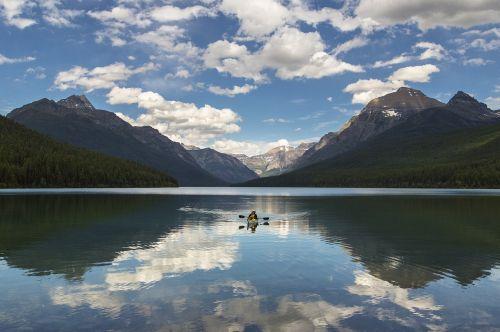 lake mcdonald landscape kayaking