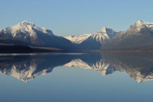 lake mcdonald landscape panorama