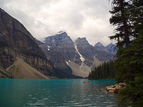 lake moraine  banff  landscape