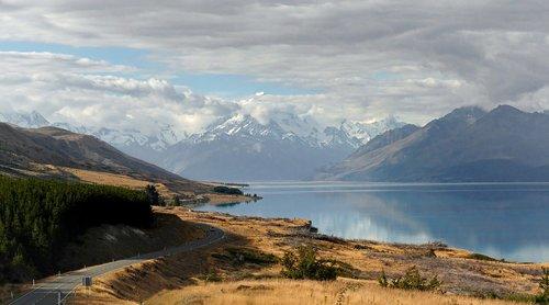 lake pukaki  alpine  mount cook