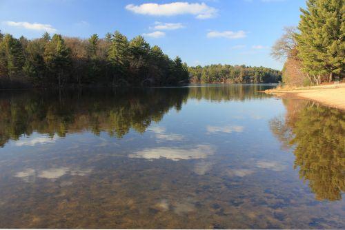 kraštovaizdis, vaizdingas, ežeras, apmąstymai, ežero apmąstymai
