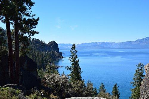 lake tahoe  landscape  blue