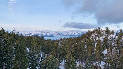 lake tahoe  spring  morning