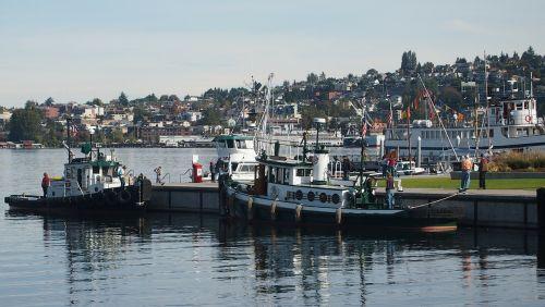 lake union seattle wooden boat
