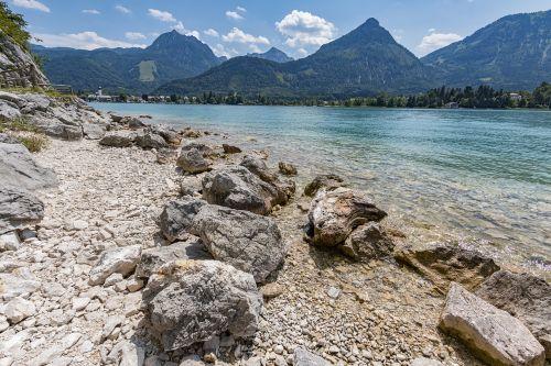 lake wolfgang st wolfgang panorama