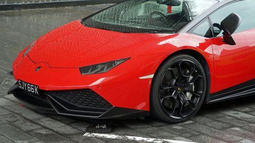 lamborghini red luxury car