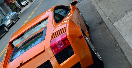 lamborghini rear view street