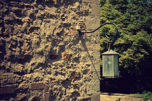 lamp wall stone