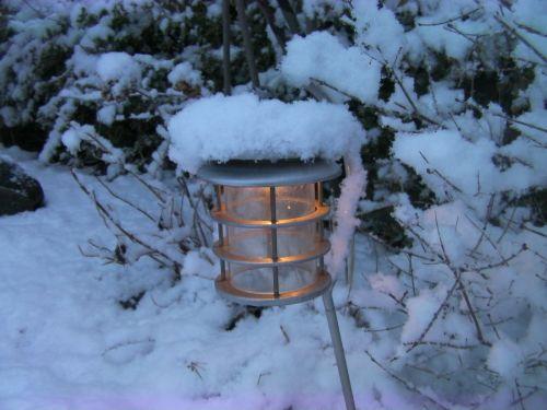 lamp light snow