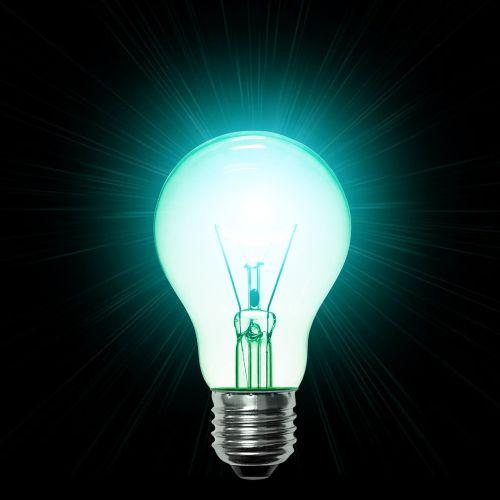 lamp turquoise light bulb