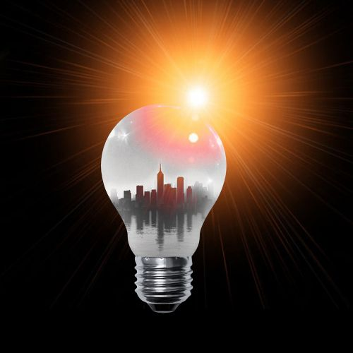 lamp orange light bulb