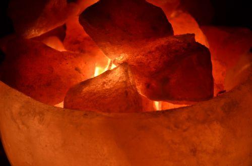 lamp pink salt himalayas