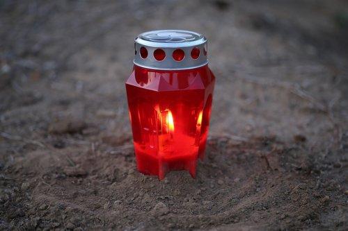 lamp  light  red