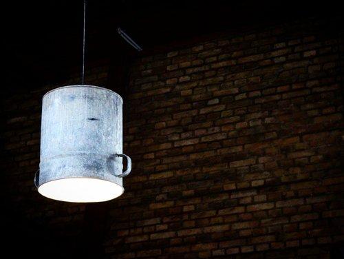 lamp  wall  bricks