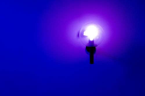lamp blue blue light