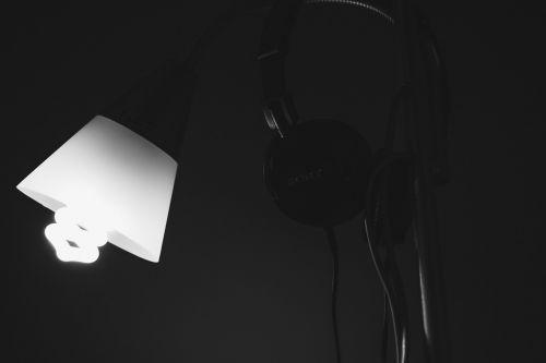 lamp headphones nero