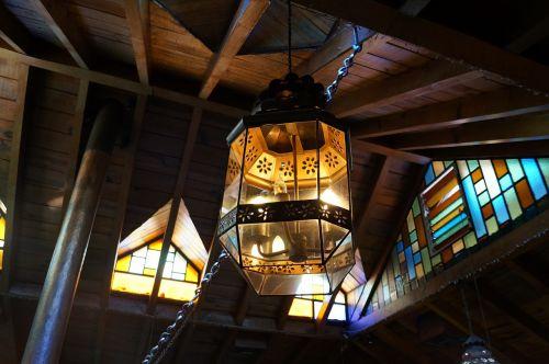 lamp light rustic