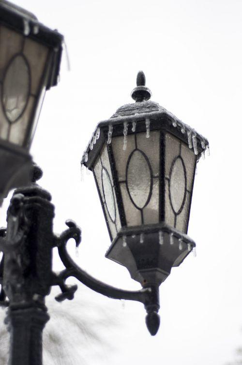 lamp frozen cold