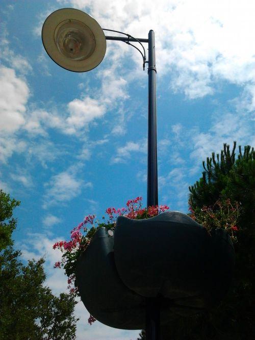 lamp ganesh flower