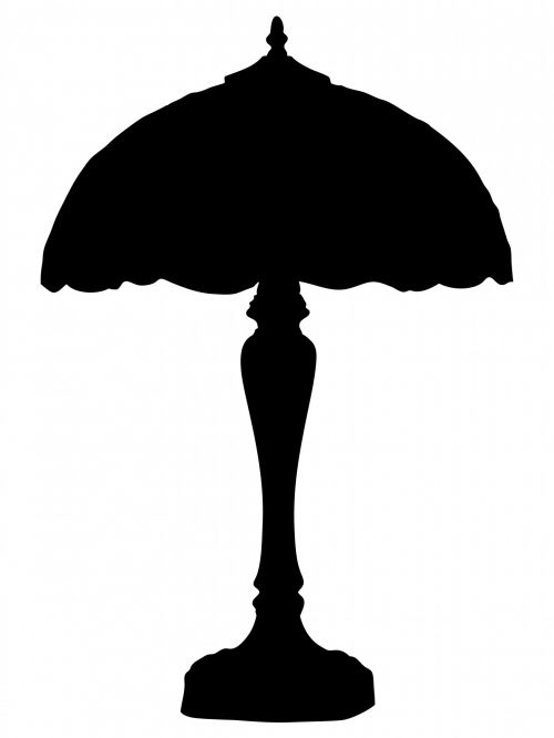 Lamp And Shade Silhouette