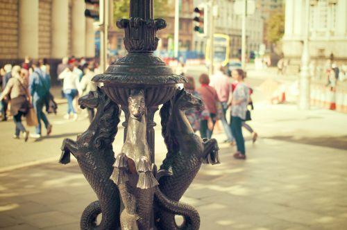 lamp post lantern metal