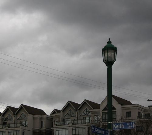 Lamp Post And Street Signs