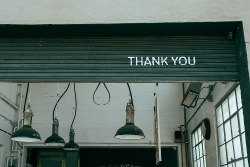 lamps thank you door