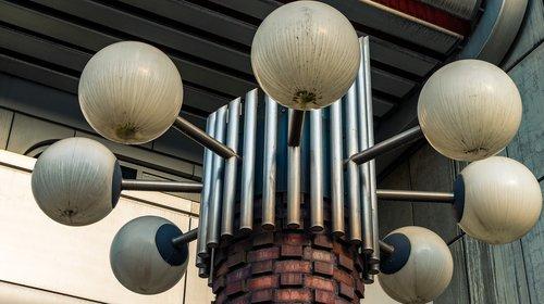 lamps  shining  outdoor