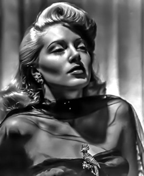 lana turner - female portrait hollywood