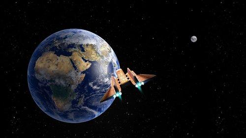 land  planet  spaceship